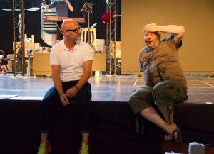 """GOP Varieté-Theater Essen: Hinter den Kulissen / Probewochen in der GOP-Probehalle Hannover für die Show """"Elektro - Ein Kunstwerk"""" (Werner Buss / Knut Gminder) ©reisemehrwert.com"""