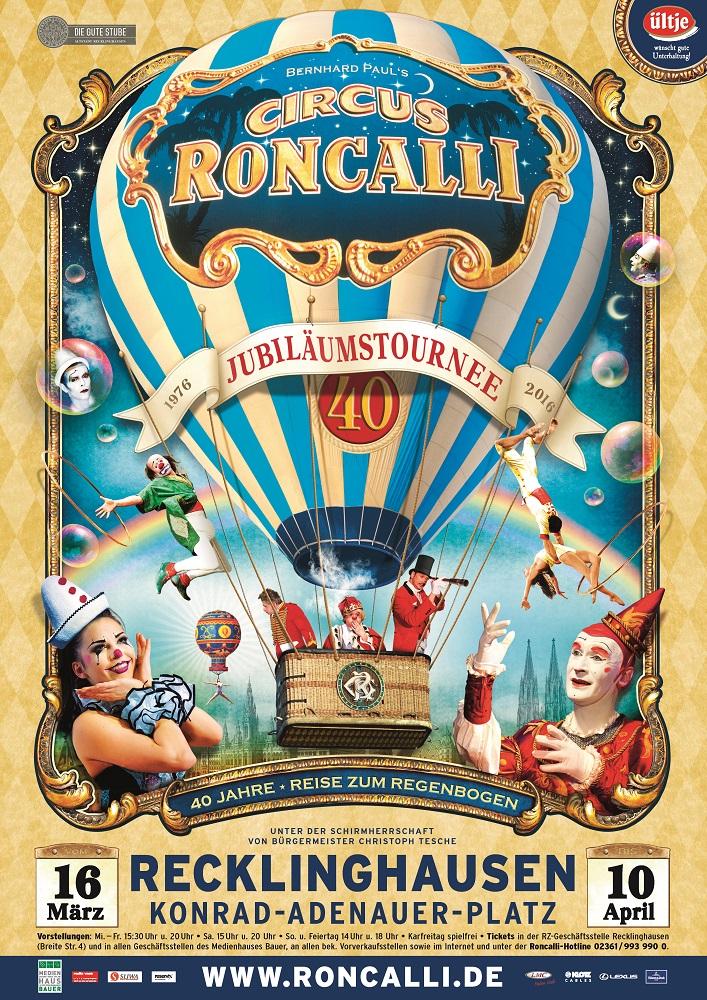 Circus Roncalli: Jubiläumstournee 2016 - Reisemehrwert