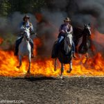 »Action, Stunts und Cascadeure« in der Rodeo-Arena