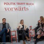 Frankfurter_Buchmesse_2019_Jagoda Marinić_Lars Klingbeil_Katharina Gerlach