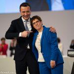 Paul Ziemiak und Annegret Kramp-Karrenbauer_cdu_parteitag_leipzig_2019