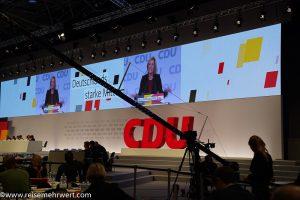 CDU Parteitag im Congress Center Leipzig am Messegelände