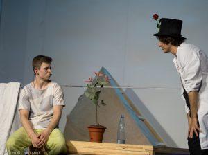 Clown Denis Klopov und Tim Kriegler_gop-essen_der-kleine-prinz-auf-station-7_premiere