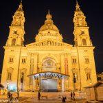 Flusskreuzfahrt-MS-Albertina-2021 - Budapester St.-Stephans-Basilika bei Nacht