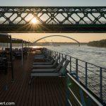 Flusskreuzfahrt-MS-Albertina-2021 - Abendstimmung auf der Donau
